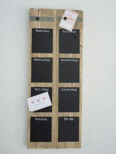 Krijtbord magneet weekplanner
