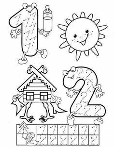 Preschool and Homeschool Numbers Preschool, Learning Numbers, Writing Numbers, Math Numbers, Preschool Lessons, Preschool Kindergarten, Preschool Worksheets, Teaching Math, Preschool Activities