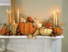 fall mantle decor cream and creamsicle colors Halloween Mantel, Halloween House, Fall Halloween, Classy Halloween, Dinner Party Decorations, Thanksgiving Decorations, Thanksgiving Mantle, Fall Home Decor, Autumn Home