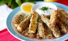 These baked zucchini fries make a change from the potato version, and they're a lot healthier as well. You might even be able to convince the kids that they're regular chips!