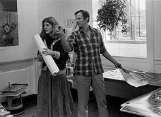 Peter Beard with Caroline Kennedy in 1977, around the time he was dating her Aunt Lee.