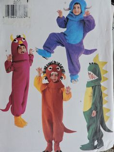 Dragon Bull Lion Jumpsuit Hood and Boots Halloween Stage Play Costume Butterick 237 / 3557 Uncut Factory Folded Pattern Toddler Sizes 2 to 4 Halloween Patterns, Costume Patterns, Felt Material, Mighty Morphin Power Rangers, Stage Play, Toddler Costumes, Needlepoint Kits, Vintage Sewing Patterns, Puppy Love