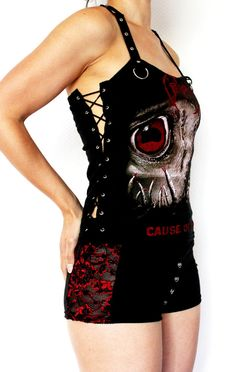 Obituary shirt thrash metal tank lace up top by kittyvampdesigns