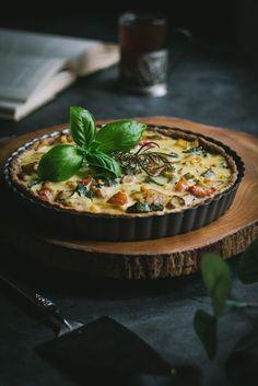 No-tofu Vegan Quiche w/ Zucchini, Corn, Peppers