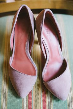 Rebecca Minkoff pink suede pumps // photo by Nathan Russell