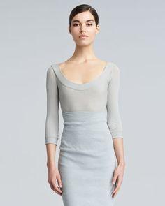 Lightweight Scoop-Neck Sweater by Donna Karan at Neiman Marcus.