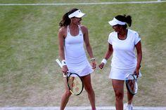 Martina Hingis and Sania Mirza...Wimbledon doubles champions~2015☆