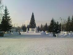 Фотографии Алтая (Photo Altai)   Города и сёла (Towns and villages): Бийск. Бульвар Петра Первого. Зима 2010-2011. 3. (...