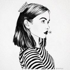 Instagram media by zukellogs - Quick princess sketch. Love stripes.