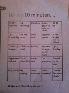 Heb je kinderen in de klas die niet graag lezen? Motiveer hen aan de hand van deze lees-bingo! Wie krijgt het eerst de kaart vol?
