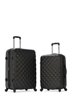 Olympia Luggage  Olympia Yellowstone 2 Piece Hardside Set - Black