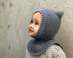 Kids Knitting Patterns, Knitting For Kids, Baby Patterns, Knitting Yarn, Baby Knitting, Knitted Balaclava, Knitted Hats, Crochet Hats, Faces Band