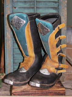 Vintage Racing Boots Malcolm Smith Riding by stitchintimepatterns, $125.00