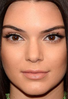 Close-up of Kendall Jenner at the 2015 Met Ball.