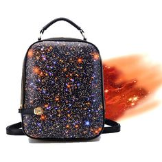 usd32.99/Style: Leisure  Feature: Starry sky print  Fashion Element: Scrawl  Material: PU