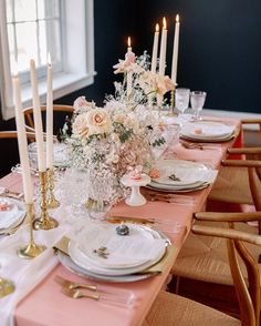 Our Clay Faille Table Linen gives an elegant pink hue to this shoot. elosiniophoto, leroyfrenchflowers