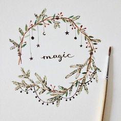 New art journal inspiration ideas doodles fun Ideas Theme Noel, Bullet Journal Inspiration, Journal Ideas, Christmas Art, Christmas Calendar, Beautiful Christmas, Doodle Art, Magic Doodle, How To Draw Hands