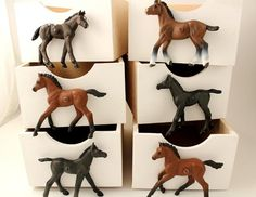 Children�s Horse Cupboard & Drawer Knobs, Set Of Six Horses For Horse Themed Bedrooms