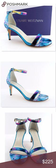 New STUART WEITZMAN Ocean Blue Ankle Strap Sandals STUART WEITZMAN 100% Authentic!! Deep Sea Blue Patent Leather Ankle Strap Sandals Size 6 Medium New without box. Made in Spain $398.00+tax All actual photos of the item. Stuart Weitzman Shoes Sandals