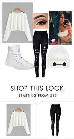 """""""Untitled #189"""" by skylerthepunkthompson on Polyvore featuring Disney, WithChic, Lauren Conrad and Converse"""