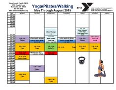 Yoga May - August schedule
