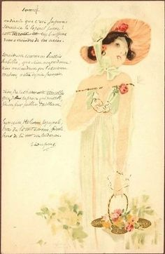 Portrait of Girls with grey border - Raphael Kirchner - WikiArt.org