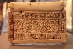 Left panel of the Franks casket, United Kingdom, 8th c.
