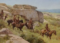 z s liang paintings images | Liang, Blackfeet on the Upper Musselshell River Valley, oil, 40 x ...