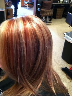 Red and blonde highlight