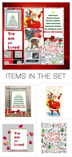 """Christman w/REoee at #EtsySpecialT"" by rescuedofferings ❤ liked on Polyvore featuring art, EtsySpecialT and SpecialTSale"