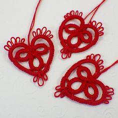 Red heart tatting