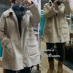 인조무스탕 코트... 따뜻하고 가볍고 좋다... 재미난 양재수업