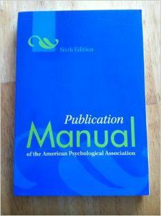 publication manual of the apa american psychological association rh pinterest com APA 6th Edition Sample Paper APA 6th Edition Sample Paper