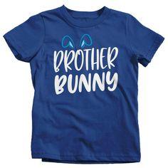 099a44620 Boy's Easter Shirt Brother Bunny T-Shirts Cute Brothers Bunny Ears Easter  TShirt Easter Tee Brother Shirt