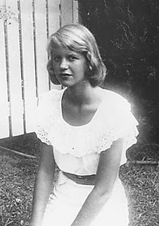 Sylvia Plath - I love the white glow around her. Nice to see something showing her in a lighter way..