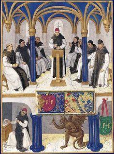 Saint Bernard Heures d'Étienne Chevalier, enluminées par Jean Fouquet Musée Condé, Chantilly
