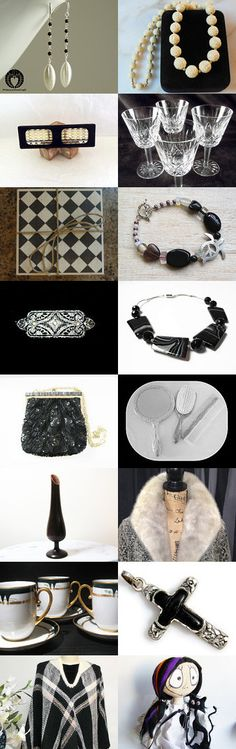 It's Black or White!! by HandCrochetBySharon on Etsy--Pinned with TreasuryPin.com