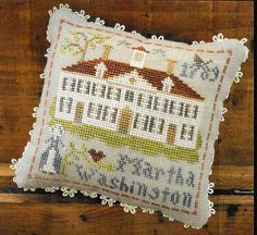 Counted Cross Stitch Pattern, Early Americans, No 3, Martha Washington, Little House Needleworks, Cross Stitch Pillow, PATTERN ONLY, www.farmersattic.etsy.com, $5.99