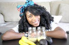 How To: DIY Avocado Banana Hair Mask Solution For Dry Curly Hair   Natural Hair
