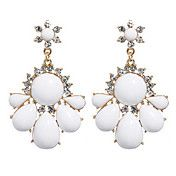 Bohemian Style White Full Diamond Earrings – USD $ 5.99