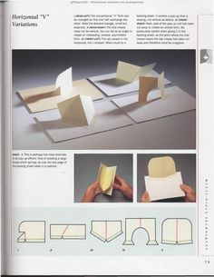 """Photo from album """"The Pop-Up Book"""" on Yandex. Arte Pop Up, Pop Up Karten, 3d Templates, Origami And Kirigami, Paper Engineering, Interactive Cards, Paper Folding, Pop Up Cards, Book Binding"""