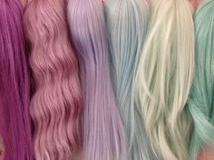 Pastel hair extensions are the best!