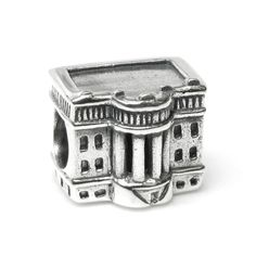 Queenberry Sterling America Usa President White House Patriotic Landmark Travel European Bead Charm