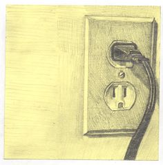 hand-drawing. Post-It: outlet