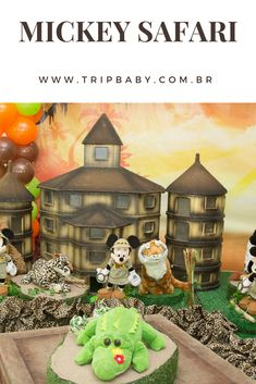 Decoração Mickey Safari para festa de 1 ano. Kids, Fiestas, World, Young Children, Boys, Children, Boy Babies, Child, Kids Part