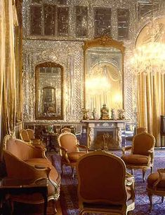 Talar'e Almas (Hall of Diamonds) is located in the southern wing of Golestan Palace (Tehran) next to the Wind Towers. It is called Hall of Diamonds because of the exceptional mirror work inside the building.