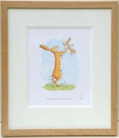 "Anita Jeram ""Guess How Much I Love You"". Even has some orange in it."