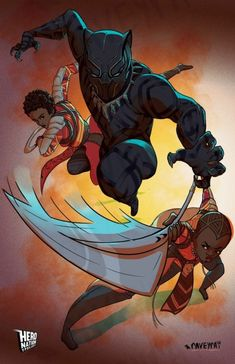 "thecomicninja: ""Black Panther by Raven White "" Marvel Dc, Marvel Comics Art, Marvel Heroes, Storm Marvel, Black Panther Art, Black Panther Marvel, Black Art, Stan Lee, Wakanda Marvel"