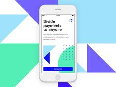 "This is the iOS app from the second concept around the down payment app. The logo and background elements highlight the ""dividing"" part, while the illustration style borrows heavily from what we& Ios 7 Design, Email Design, Design Blogs, Dashboard Design, Graphic Design, Design Design, Library App, Splash Screen, User Experience Design"