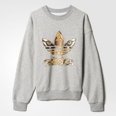 Shop women's adidas hoodies and sweatshirts including trefoil logo, & pullover hoodies. See all colors and styles in the official adidas online store. Adidas Jumper, Adidas Outfit, Rita Ora, Grey Sweatshirt, Graphic Sweatshirt, Adidas Originals, Hoodies, Sweatshirts, Athleisure